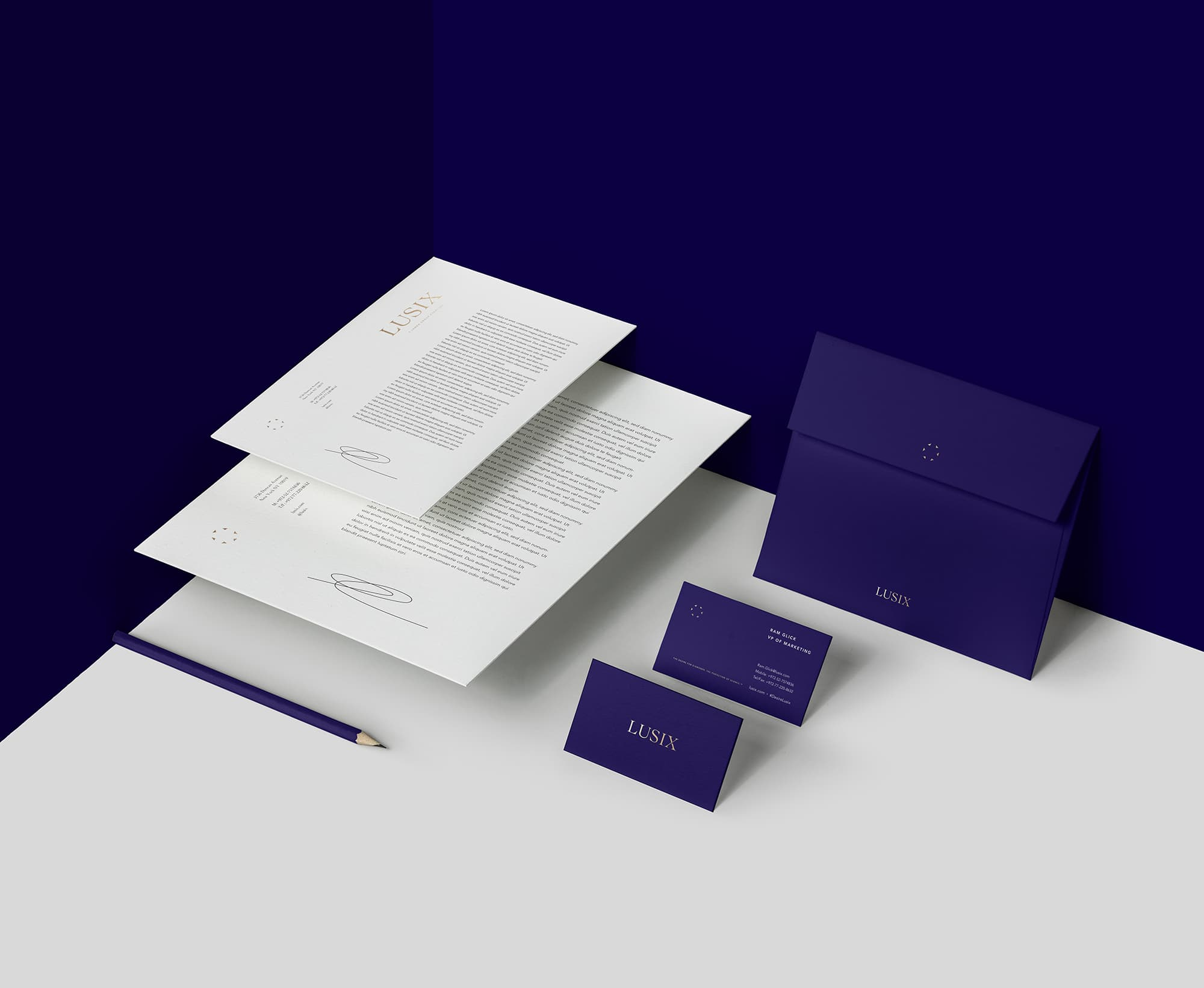 Lusix Diamonds stationery design by VMGROUPE