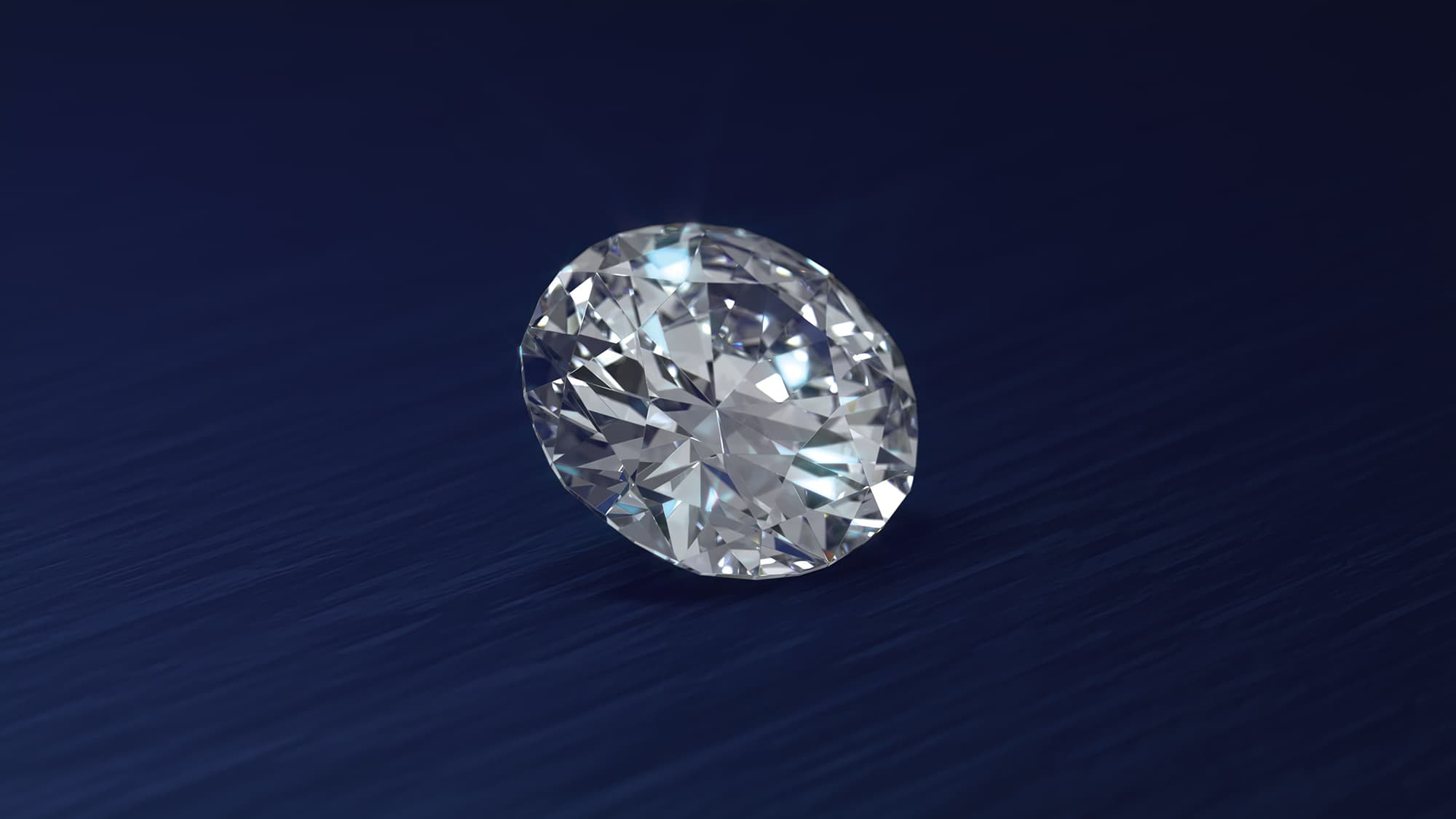 Lusix diamond on blue background created in CGI
